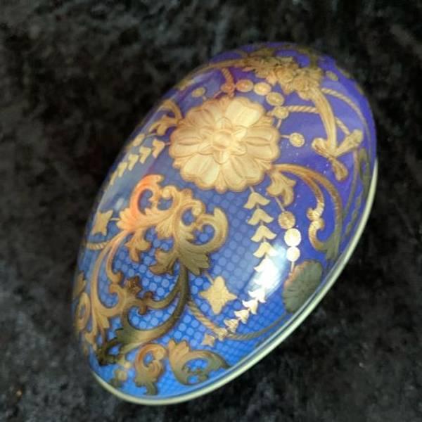 Metall egg 115 g gull og blått
