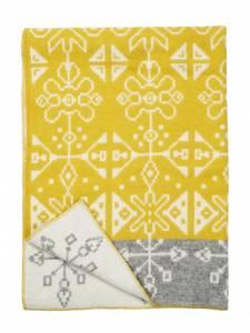 Bilde av Tradition yellow, woven blanket, 100% eco lambs